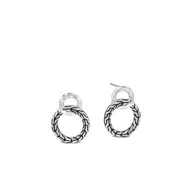 John Hardy Silver Classic Chain Women's Drop Earrings
