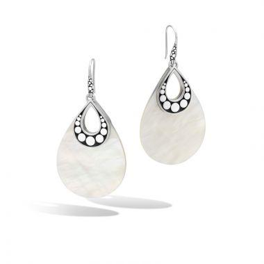 John Hardy Silver Dot Women's Gemstone Drop Earrings