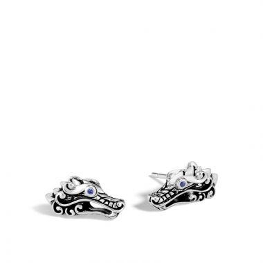 John Hardy Silver Legends Naga Women's Gemstone Stud Earrings