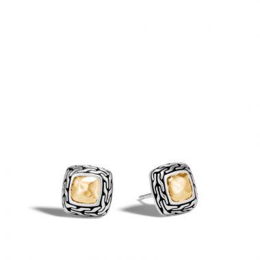 John Hardy Silver & Gold Classic Chain Women's Stud Earrings