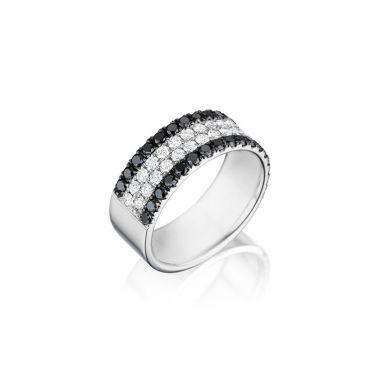 Henri Daussi Platinum Diamond Mens Wedding Band
